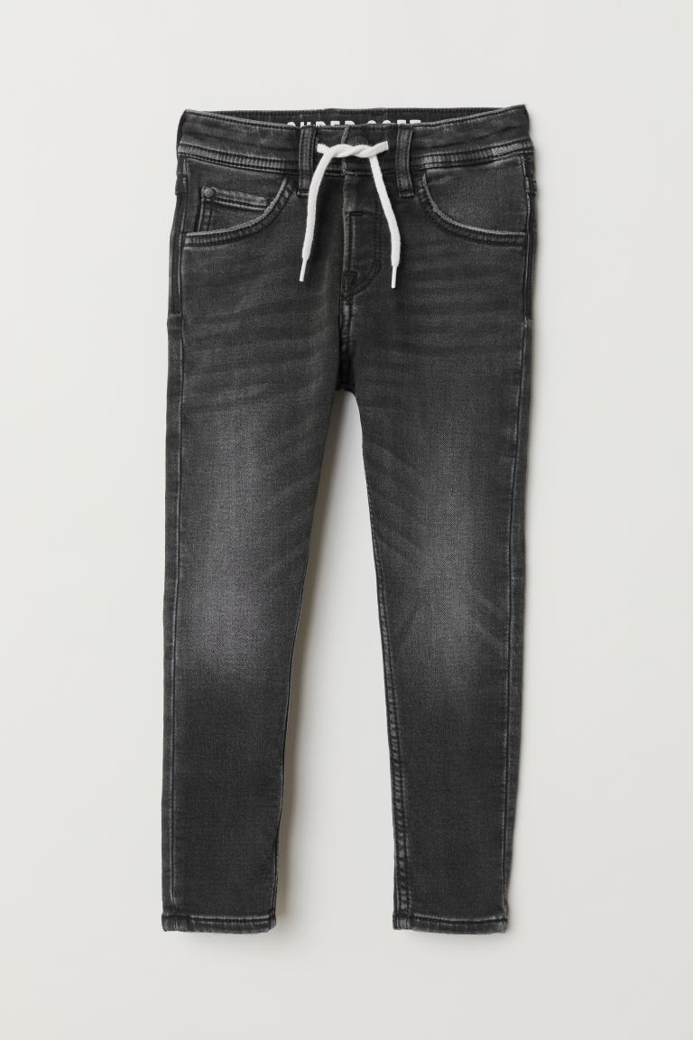 Super Soft denim joggers - Black - Kids | H&M GB
