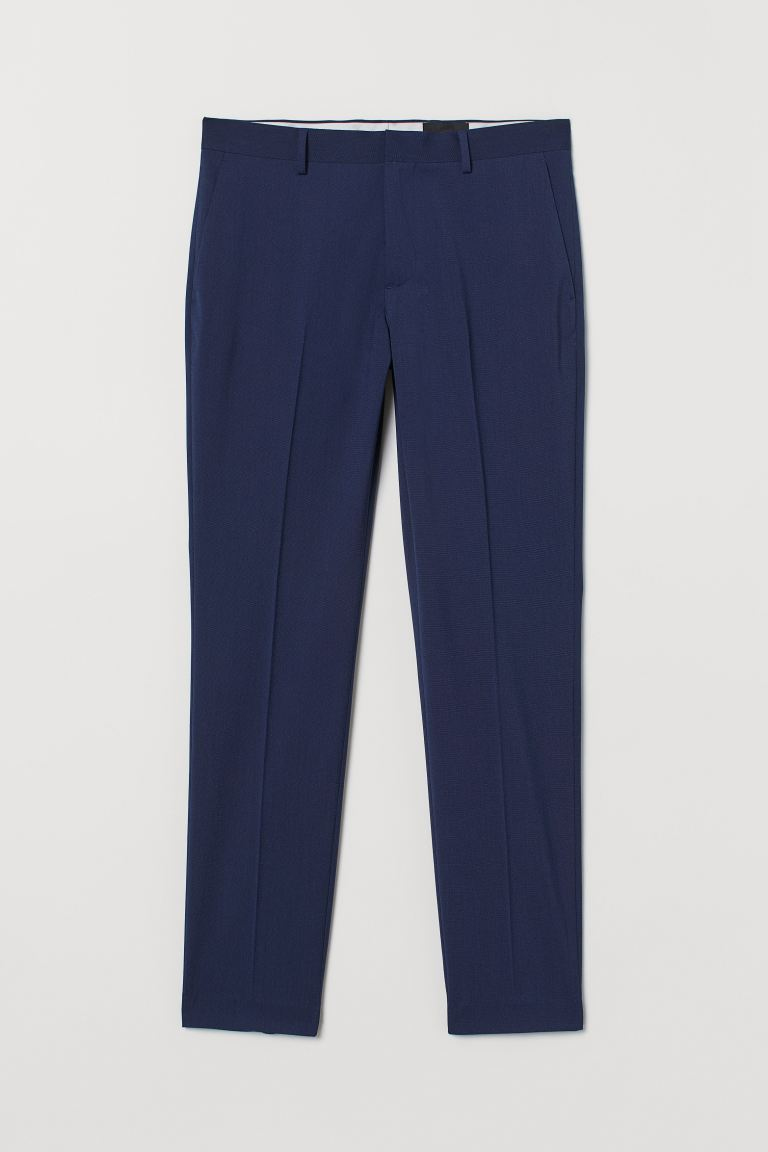 Anzughose Slim Fit - Dunkelblau - Men | H&M DE