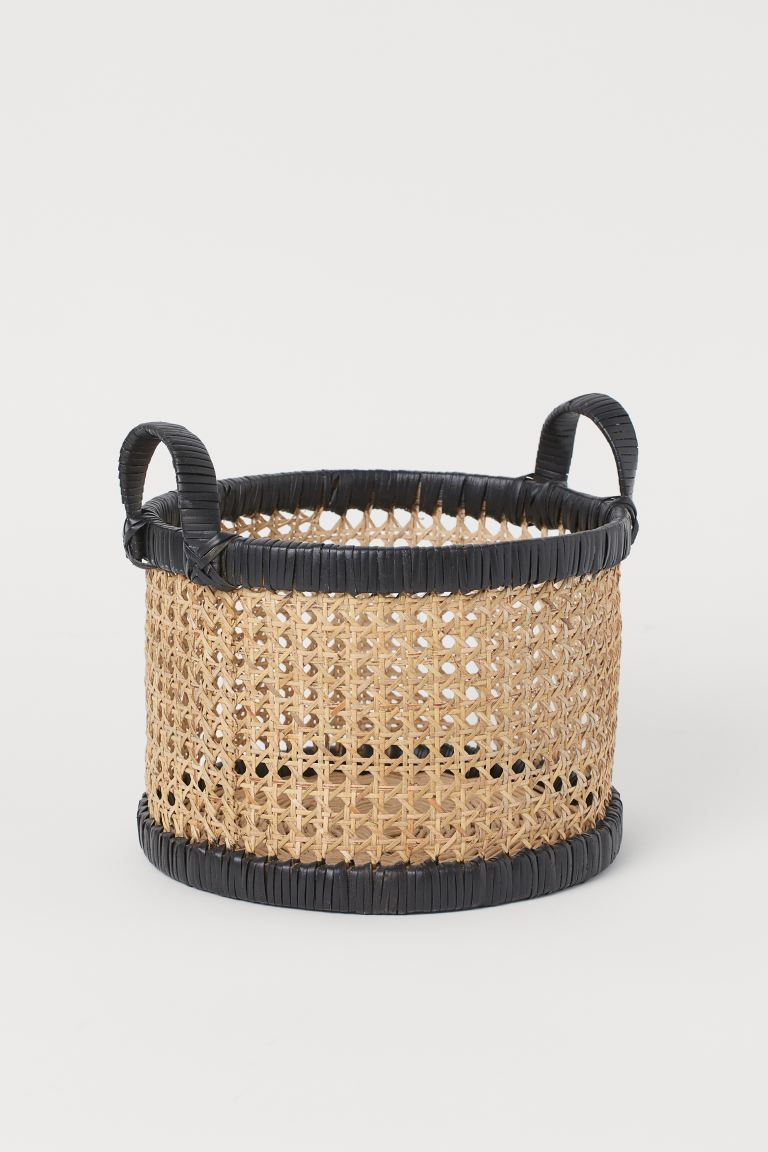 Small Rattan Basket Black Home All H M Us