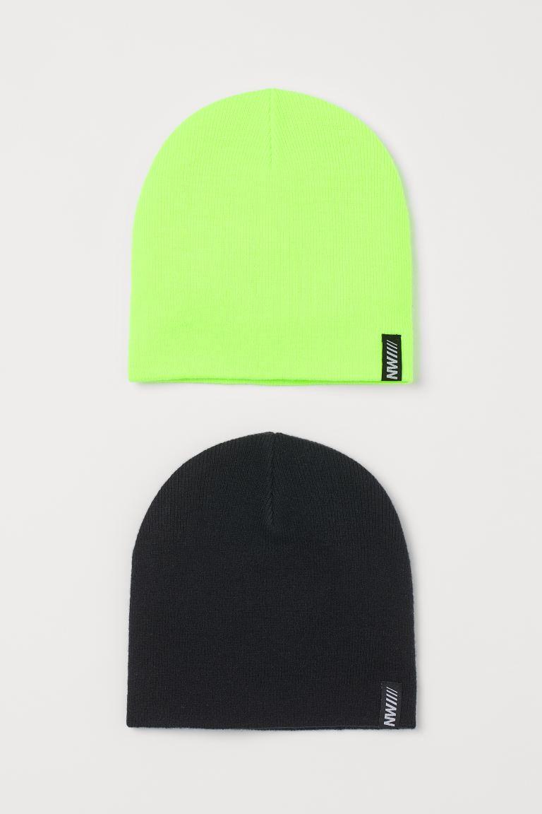 2-pack fine-knit hats
