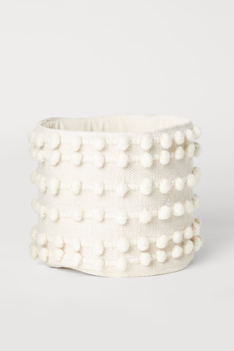 Small storage basket - Natural white - Home All | H&M GB