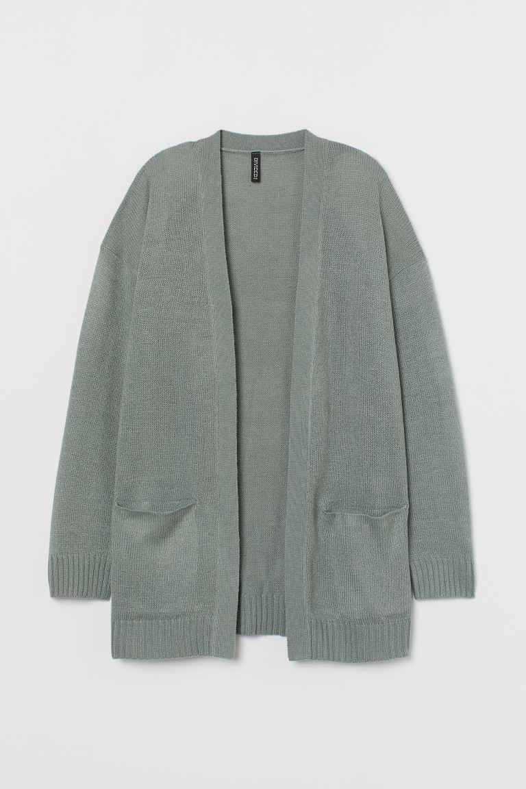 Knit Cardigan - Dusky green - Ladies | H&M US