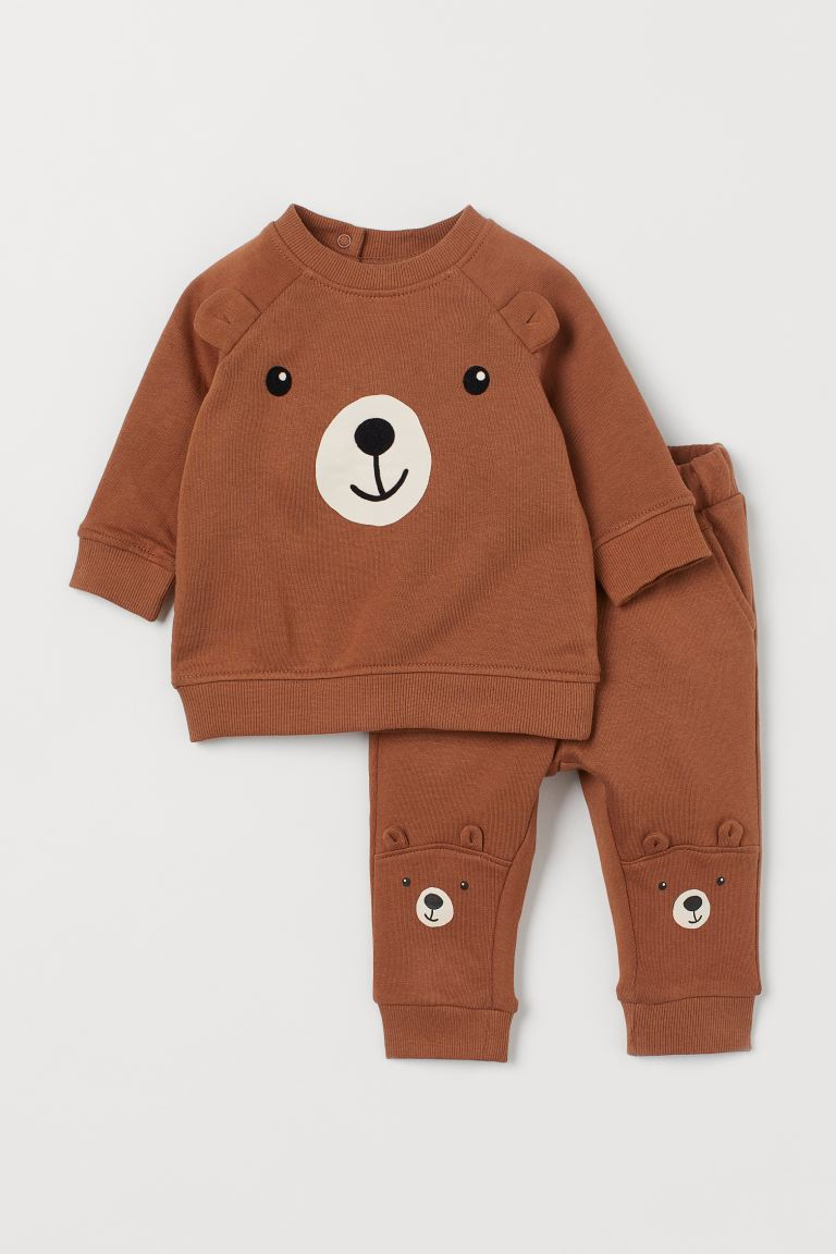 2-piece set - Brown/Bear - Kids | H&M GB