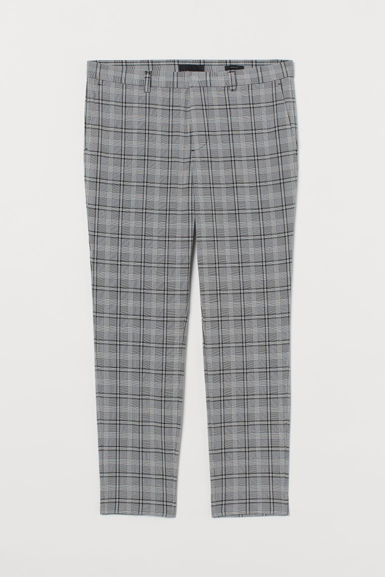 Suit trousers Skinny Fit - Black/White checked -  | H&M GB