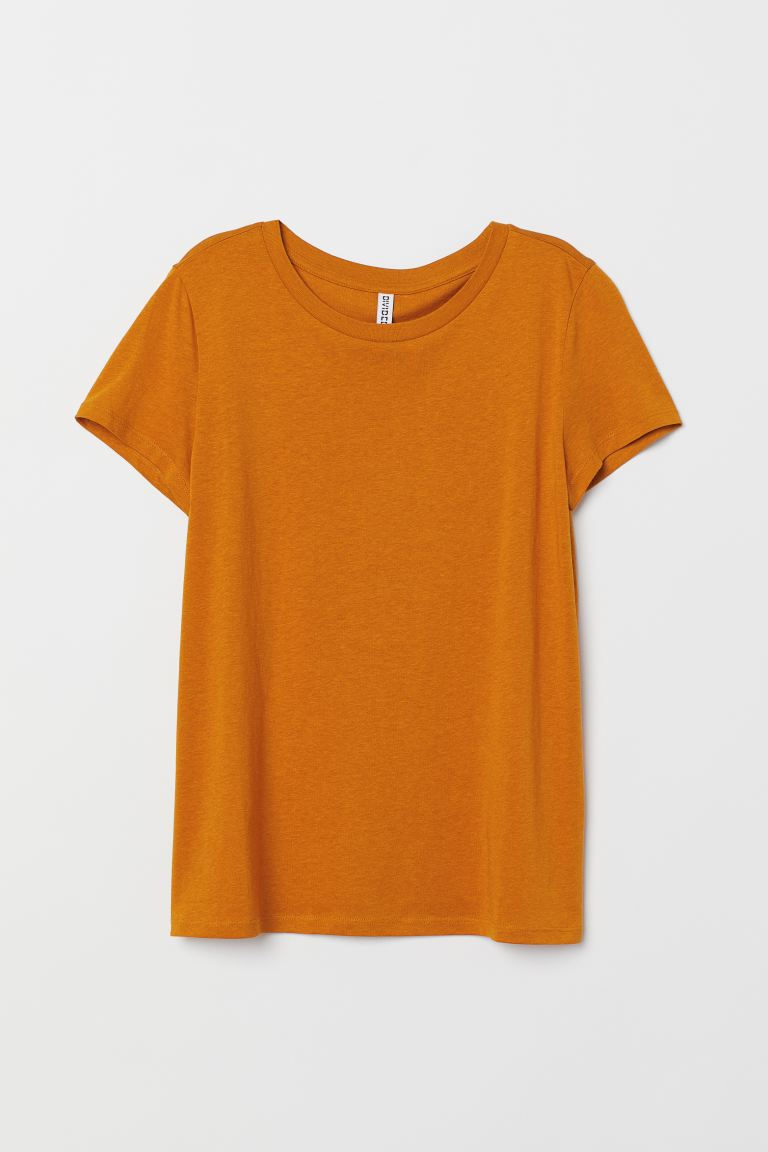 T-shirt in jersey - Giallo senape scuro - DONNA | H&M IT