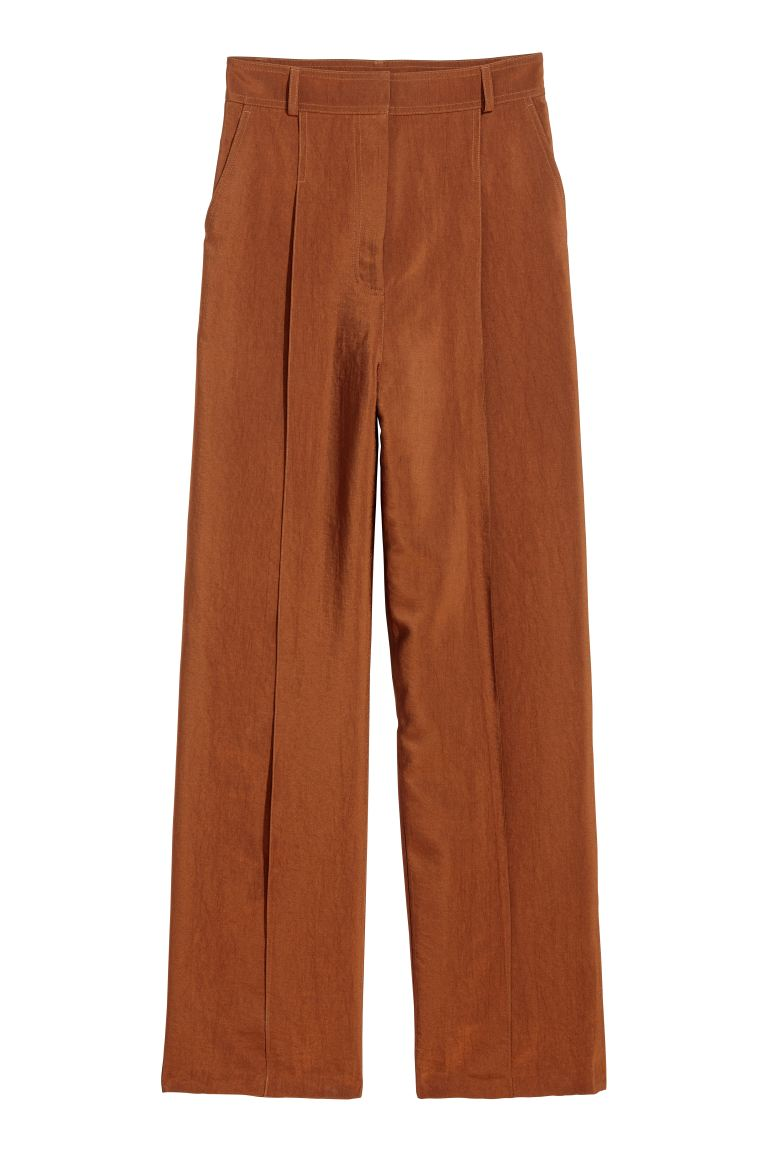 Wide trousers - Rust - Ladies | H&M GB