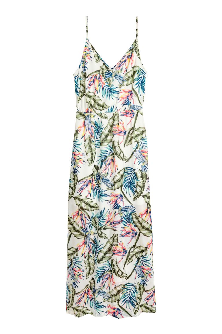 Maxi dress - White - Ladies | H&M GB