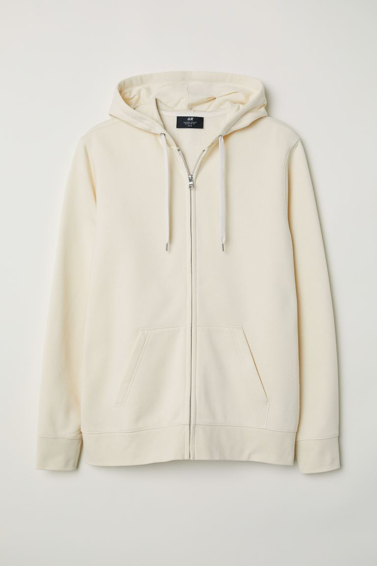 Regular Fit Hooded Jacket - Cream - Men | H&M CA