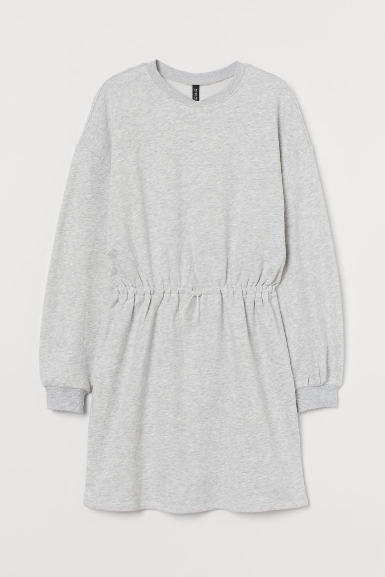 Sweatshirt Dress - Light gray melange - Ladies | H&M US 4