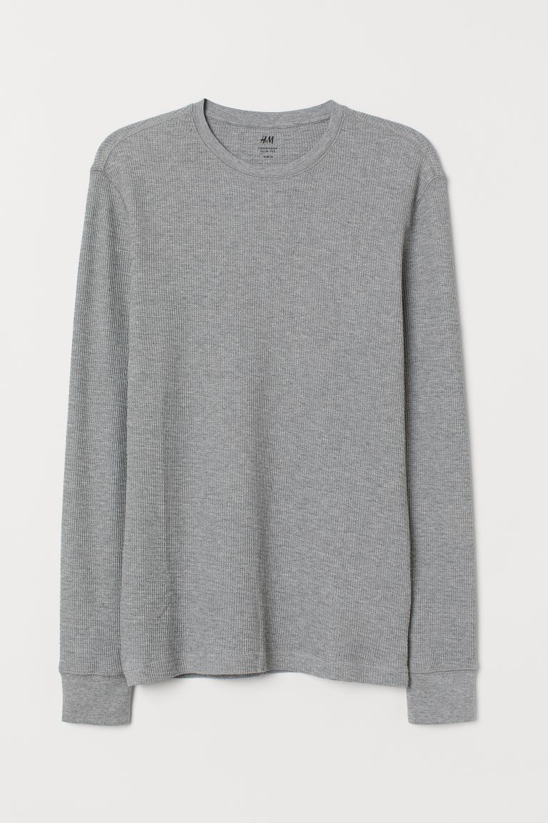 Slim Fit Jersey Shirt - Gray melange - Men | H&M US