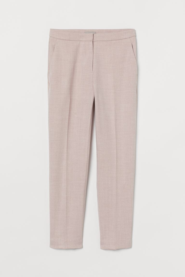 Pantalon cigarette - Rose clair/motif chevron - FEMME | H&M BE