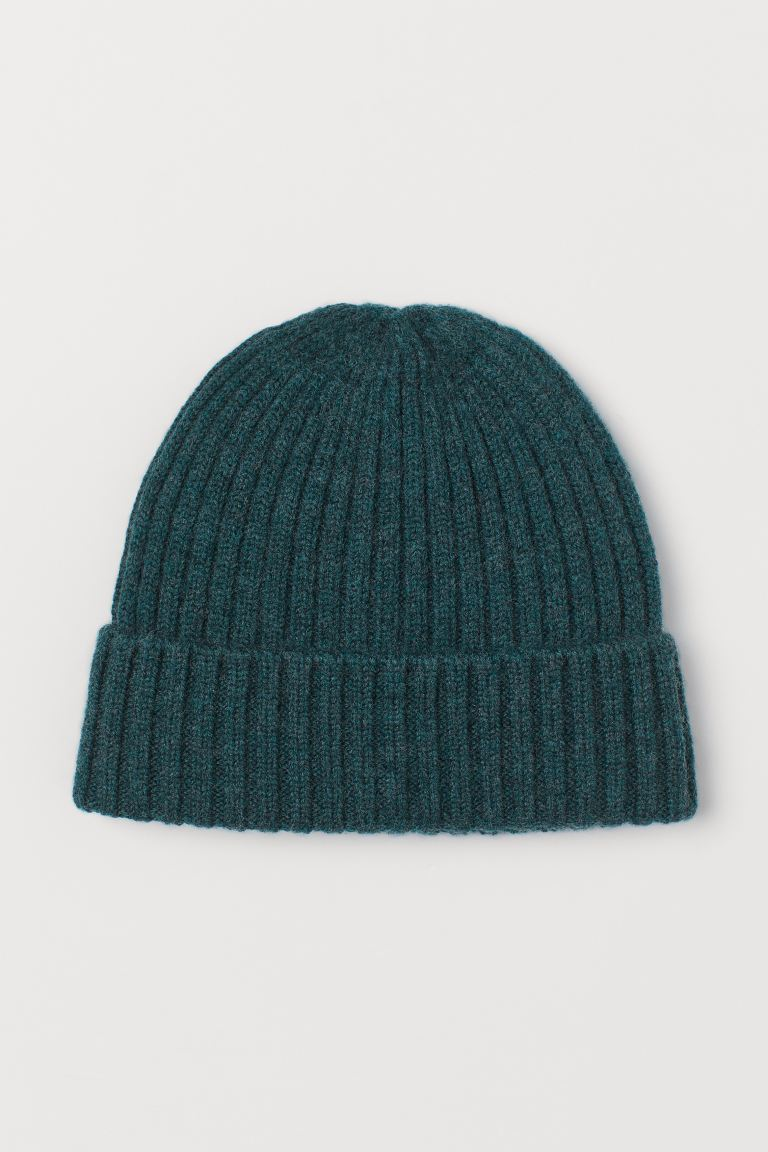 Wool hat - Dark green - Kids | H&M GB