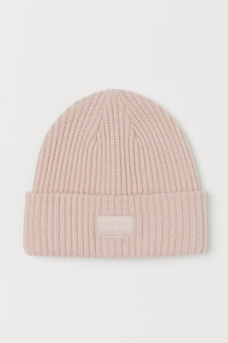 Rib-knit Hat - Pastel pink - Ladies | H&M US