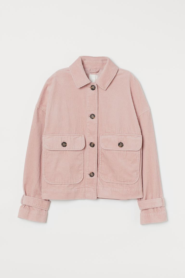 Boxy Corduroy Jacket - Light pink - Ladies | H&M US