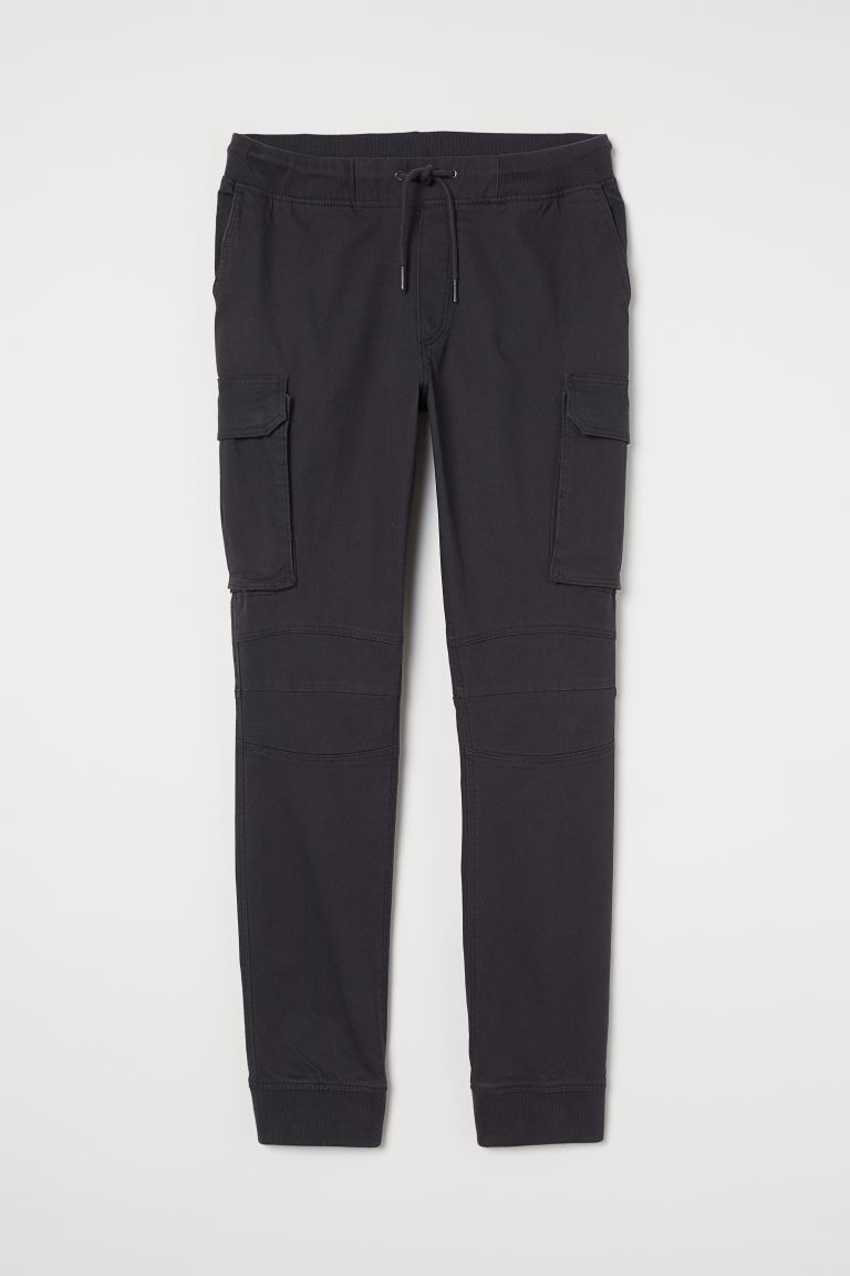 Cotton cargo joggers - Dark grey - Men | H&M