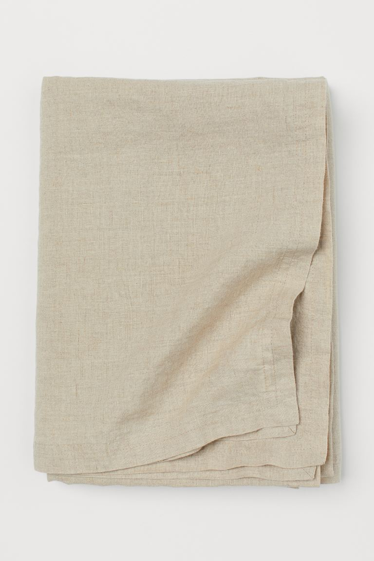 Washed Linen Tablecloth - Beige - Home All | H&M US