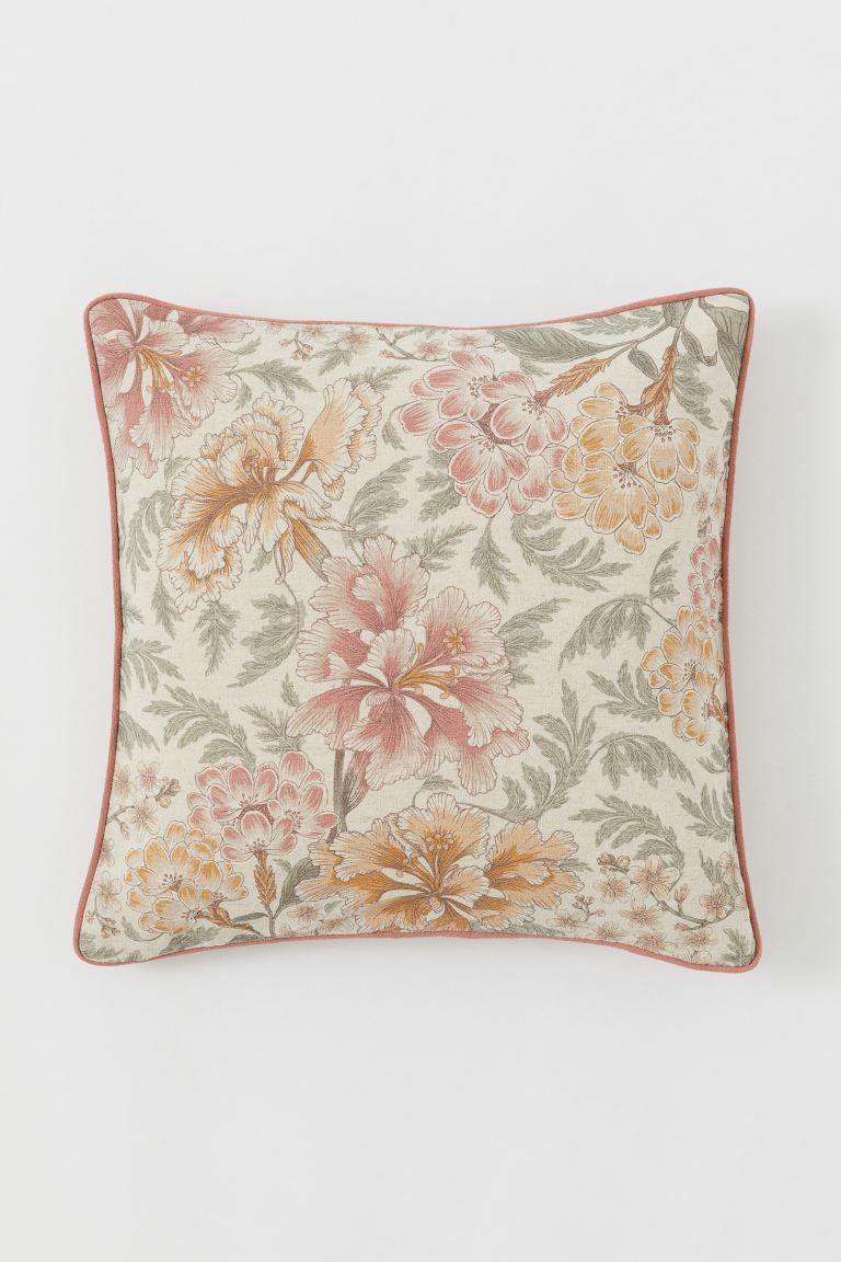 Patterned Cushion Cover - Natural white/patterned - Home All | H&M US
