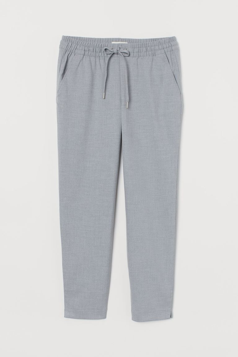 Pull-on trousers - Light grey marl - Ladies | H&M GB