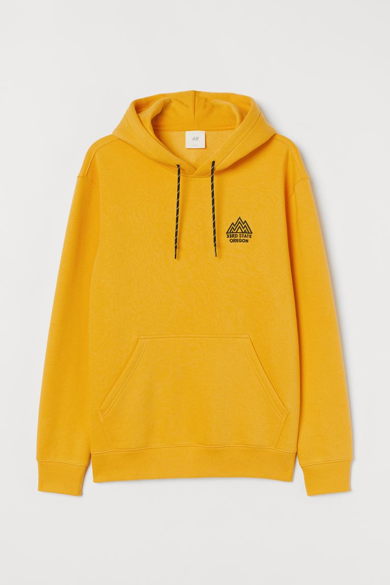 Sudadera estampada con gorro - Amarillo/Oregon - Men | H&M US