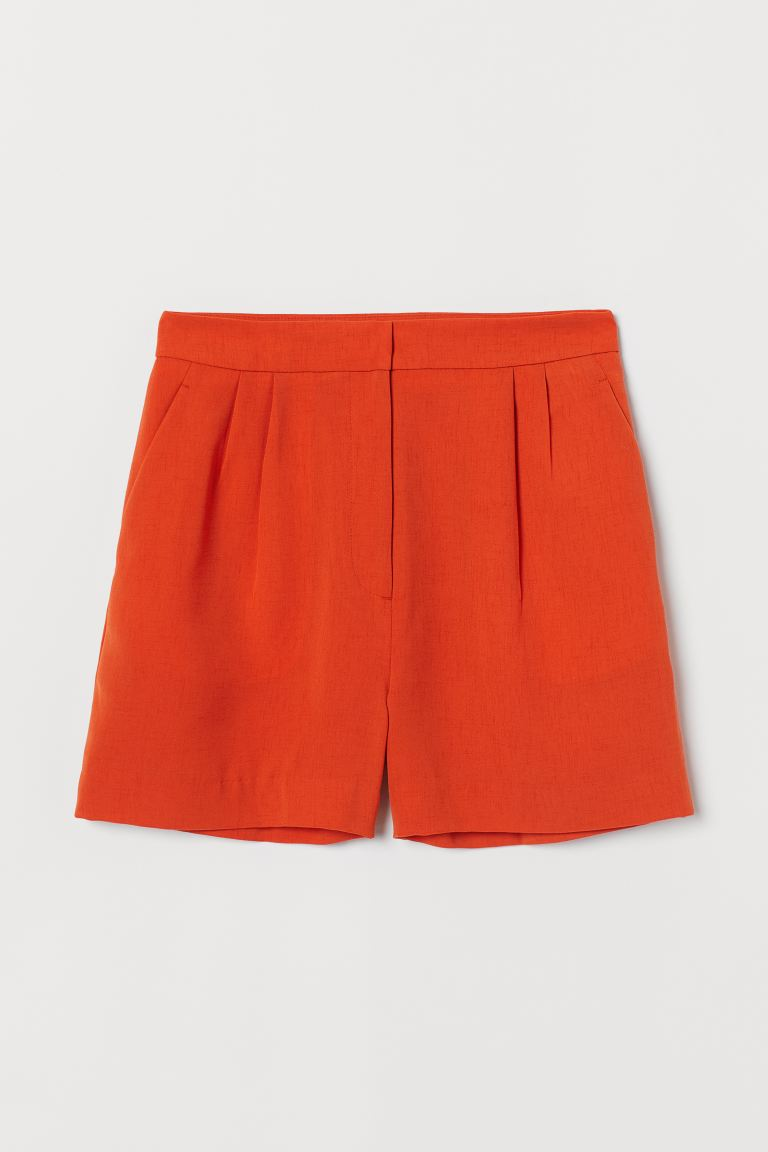 Shorts High Waist - Orange - Ladies | H&M AT