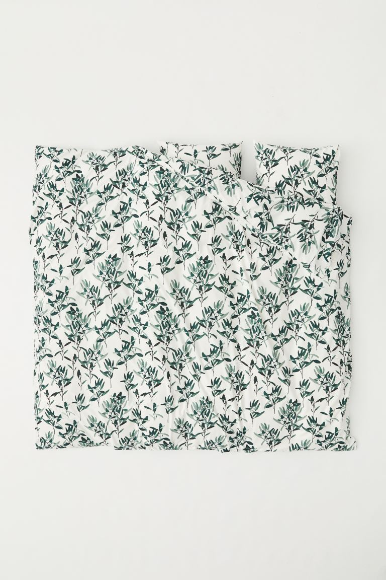 Patterned Duvet Cover Set - White/patterned - Home All | H&M US