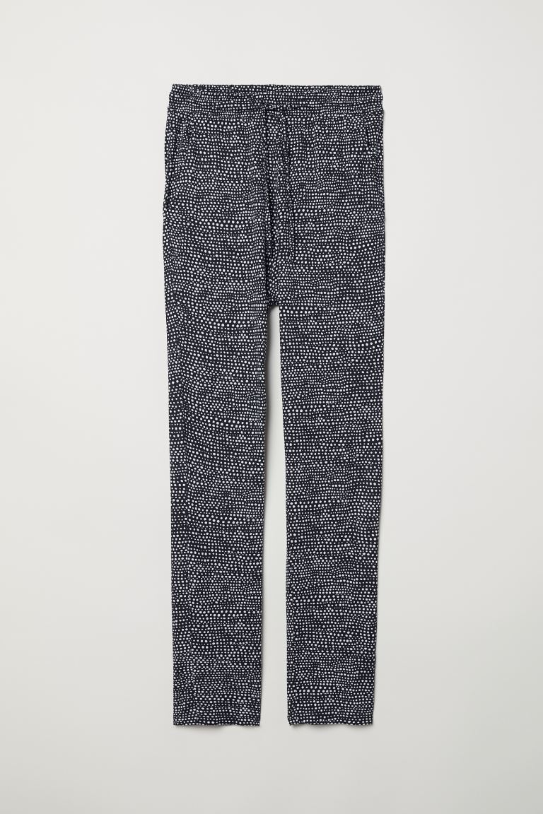 Joggers in jersey - Blu scuro/bianco pois - DONNA | H&M CH