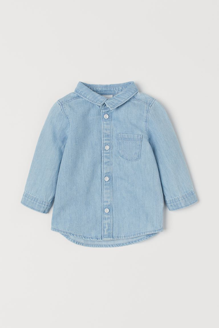 Camisa de denim - Azul denim claro - Kids | H&M MX