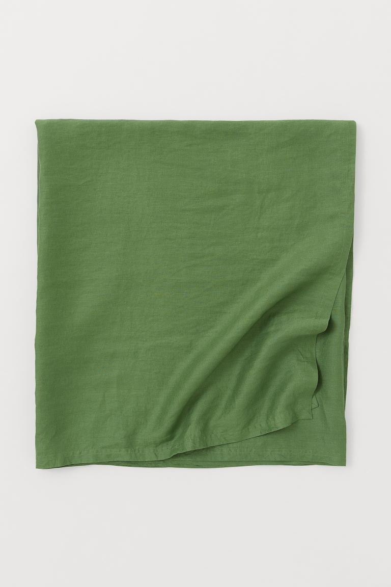 Washed Linen Tablecloth - Green - Home All | H&M US