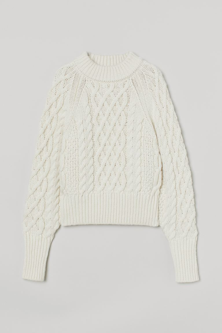 Cable-knit Sweater - Cream - Ladies | H&M US