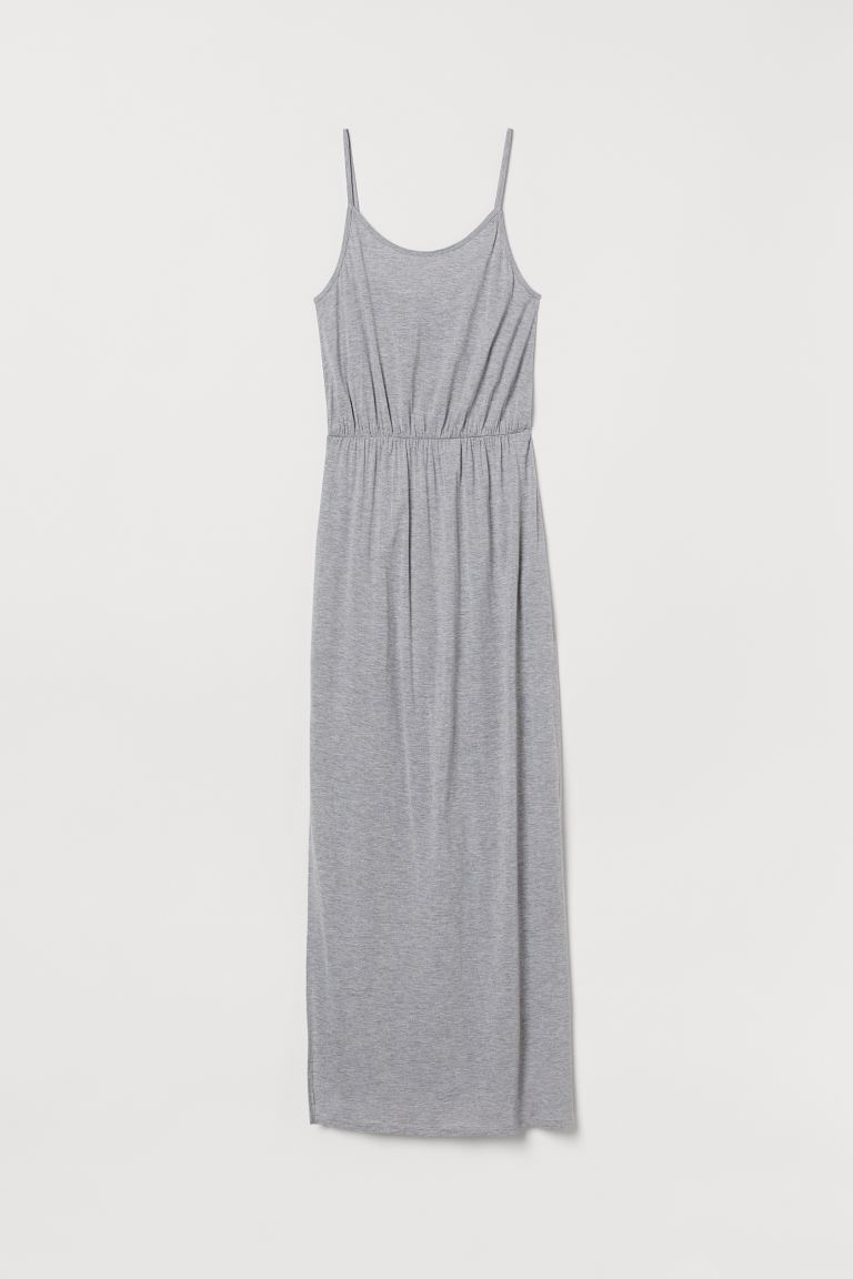 Maxi dress - Light grey marl - Ladies | H&M IN