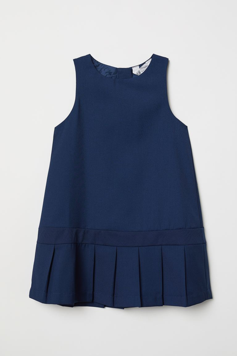 Pleated dress - Dark blue - Kids | H&M GB