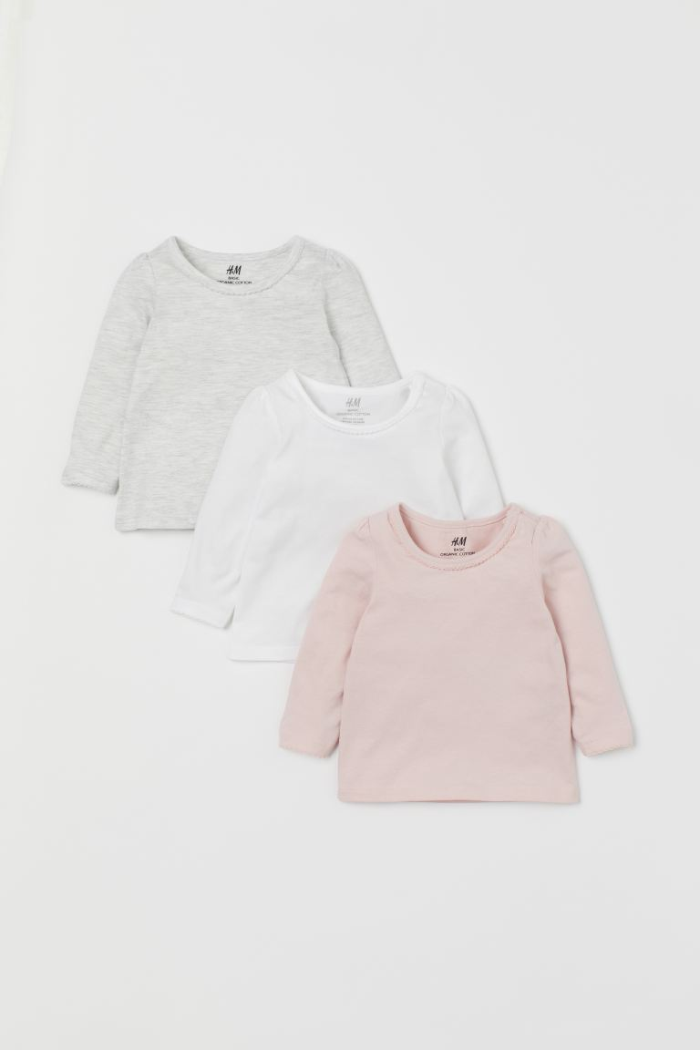 3-pack jersey tops - Light pink - Kids | H&M
