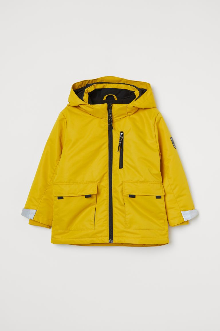 Water-repellent padded jacket - Yellow - Kids | H&M GB