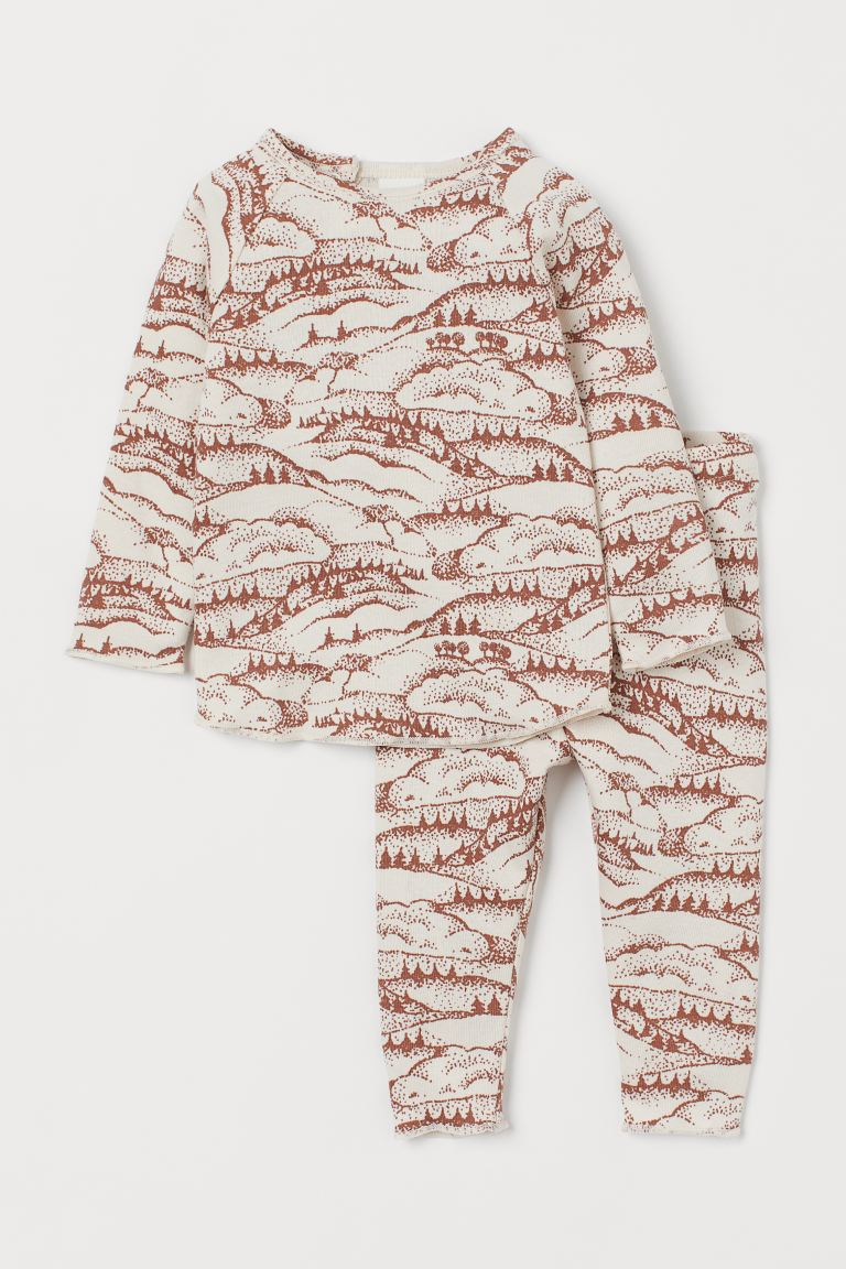 Top and Pants - Light beige/patterned - Kids | H&M US