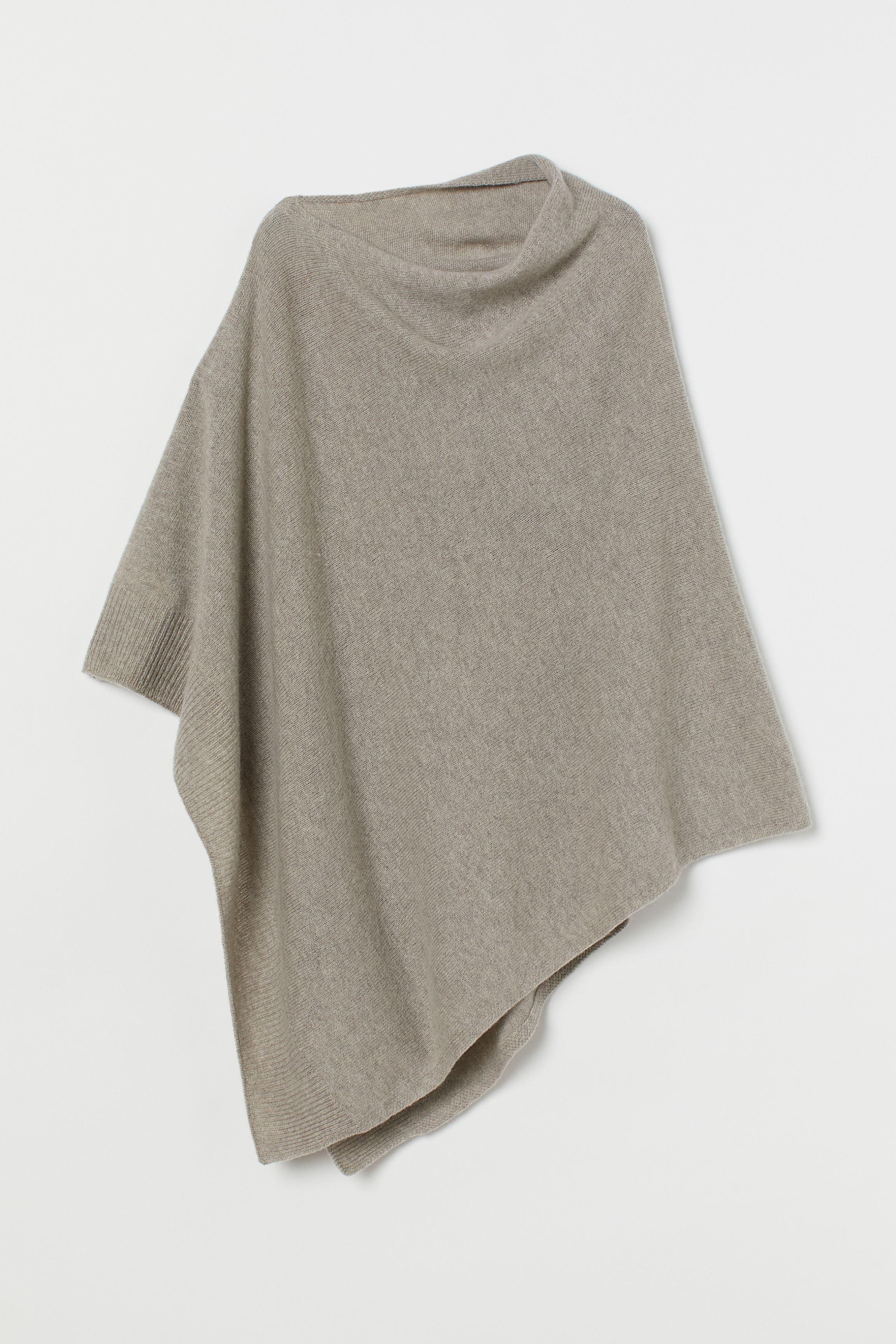 Fine-knit Wool Poncho