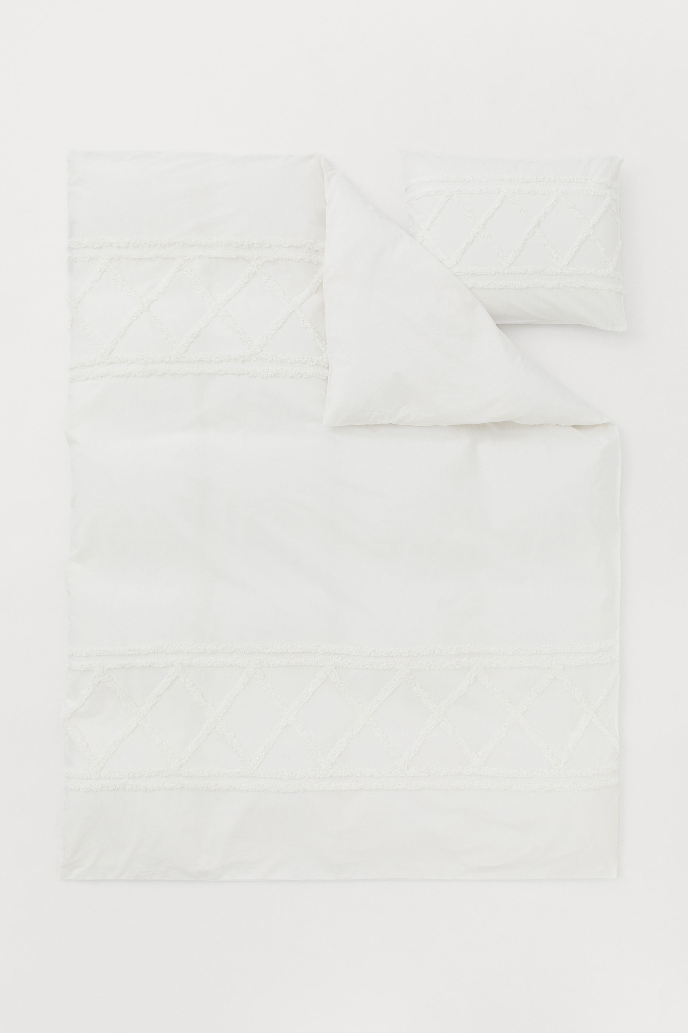 Tufted Duvet Cover Set