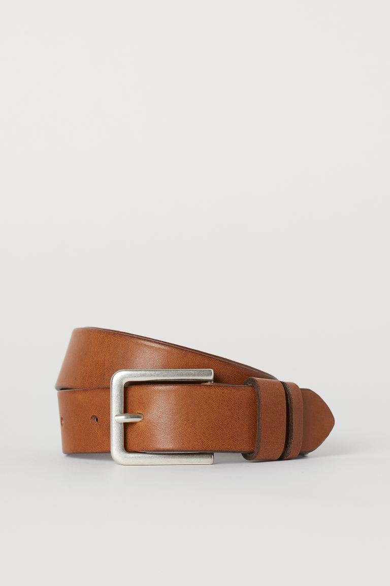 Leather belt - Light brown - Men | H&M GB