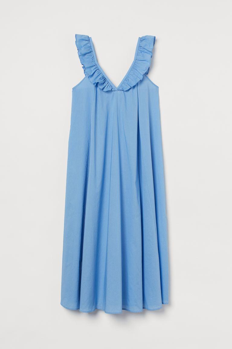 Ruffle-detail Dress - Light blue - Ladies | H&M US 5