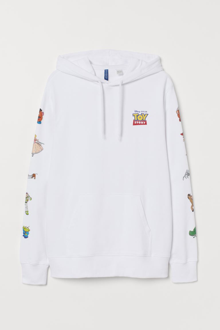 Regular Fit Hoodie - White/Toy Story - Men | H&M