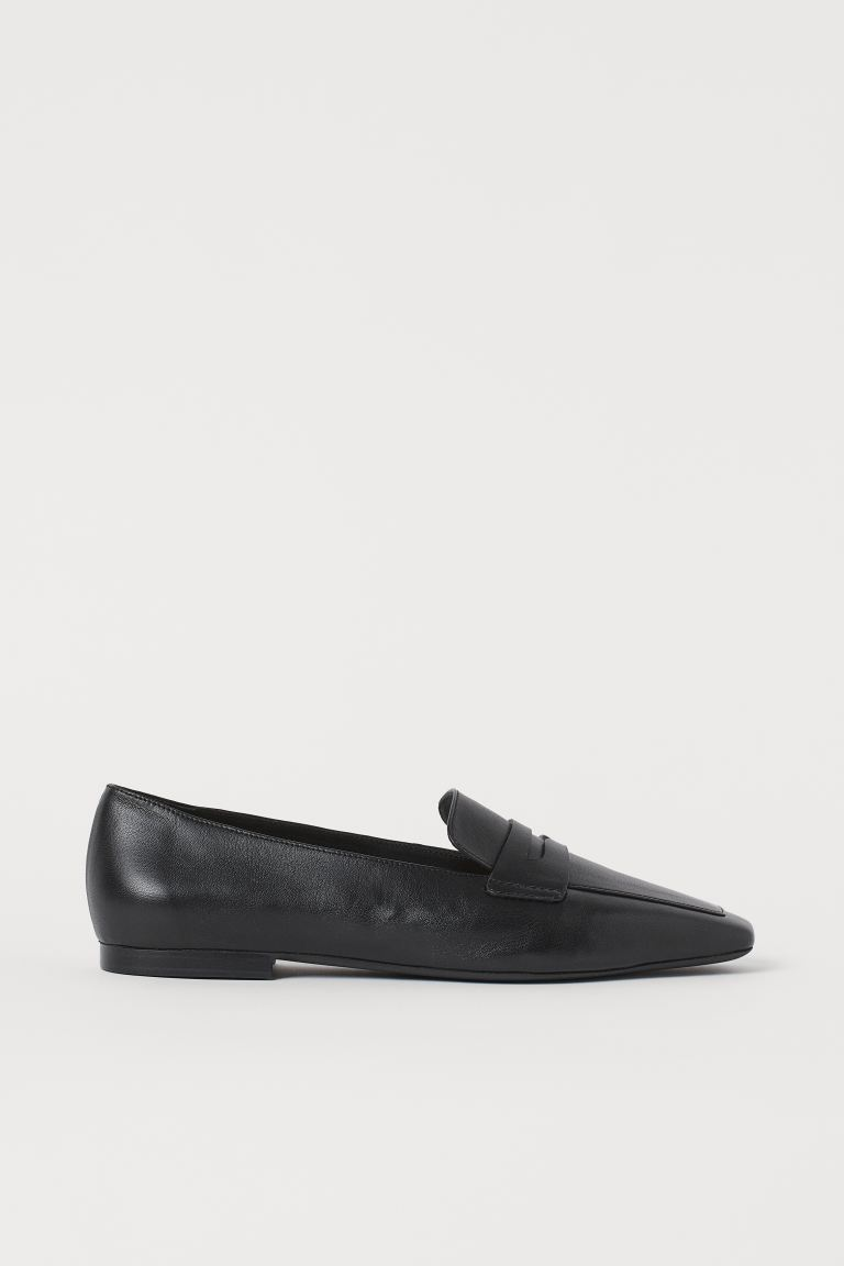 Loafers - Black/Leather - Ladies | H&M