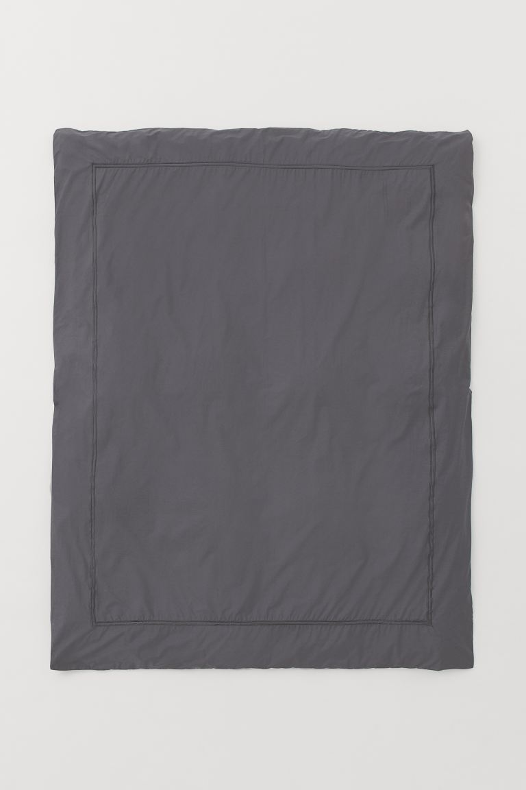 Cotton Percale Duvet Cover - Dark gray - Home All | H&M CA