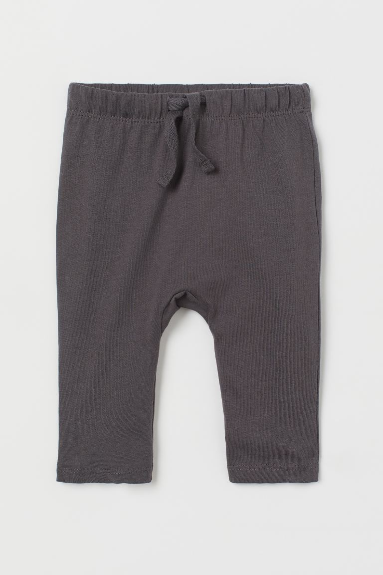 Cotton jersey trousers - Dark grey - Kids | H&M GB