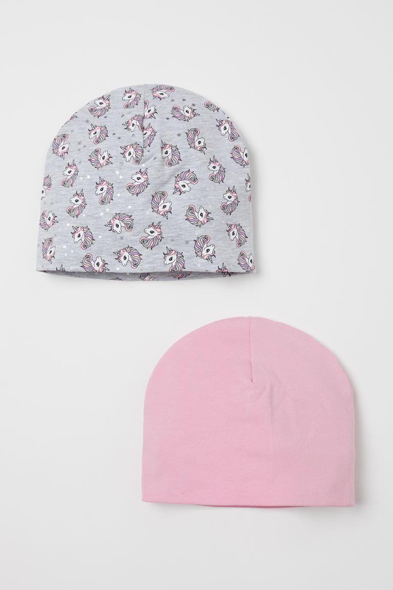 2-pack cotton hats