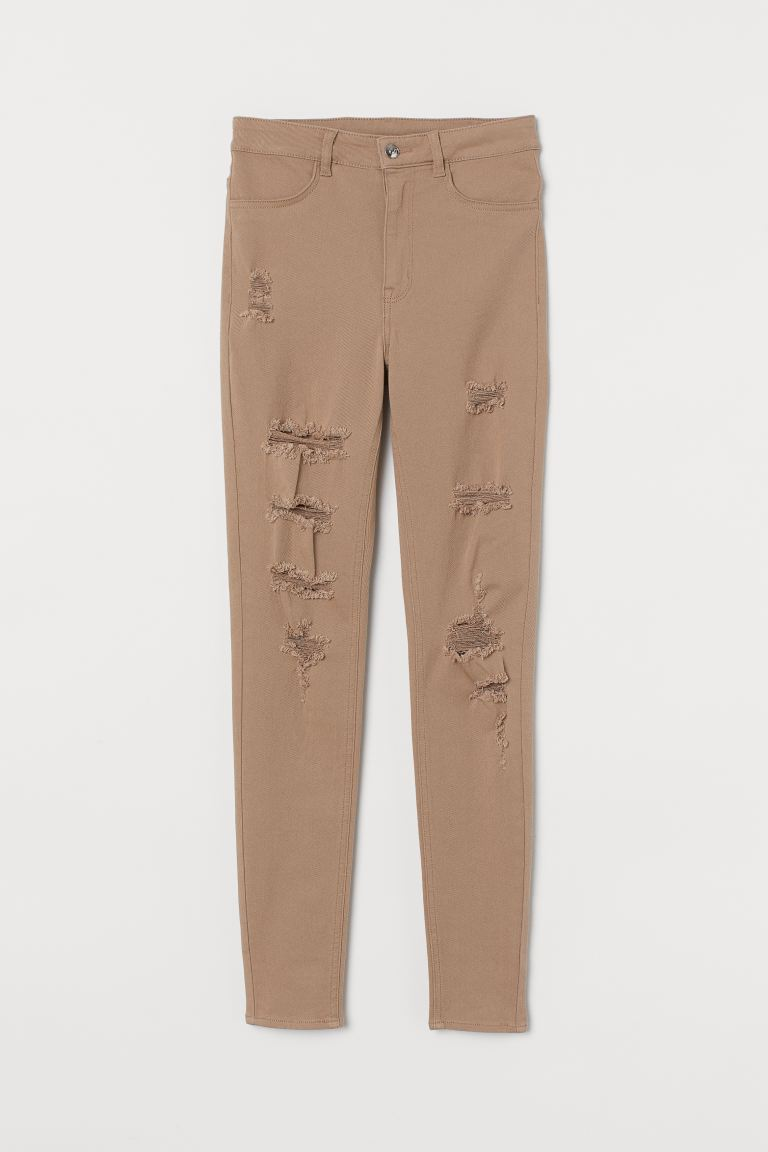 Super Skinny High Jeans - Beige - Ladies | H&M