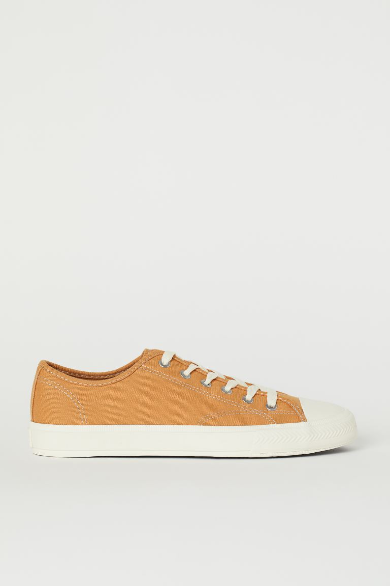 Canvas shoes - Dark yellow - Men | H&M