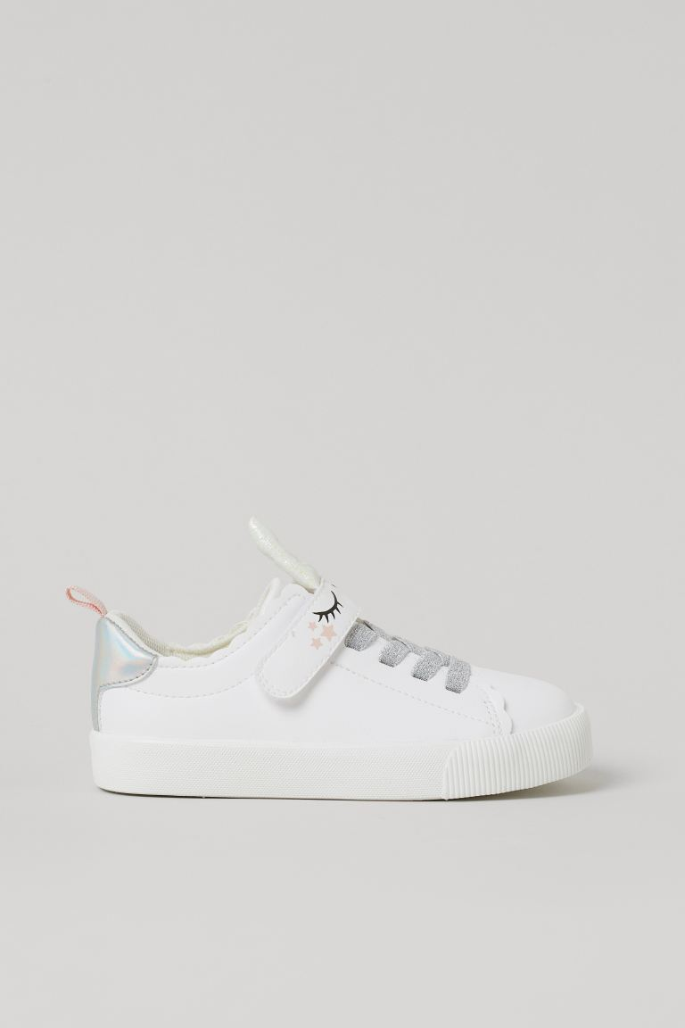 Shimmery Sneakers - White/unicorn - Kids | H&M US