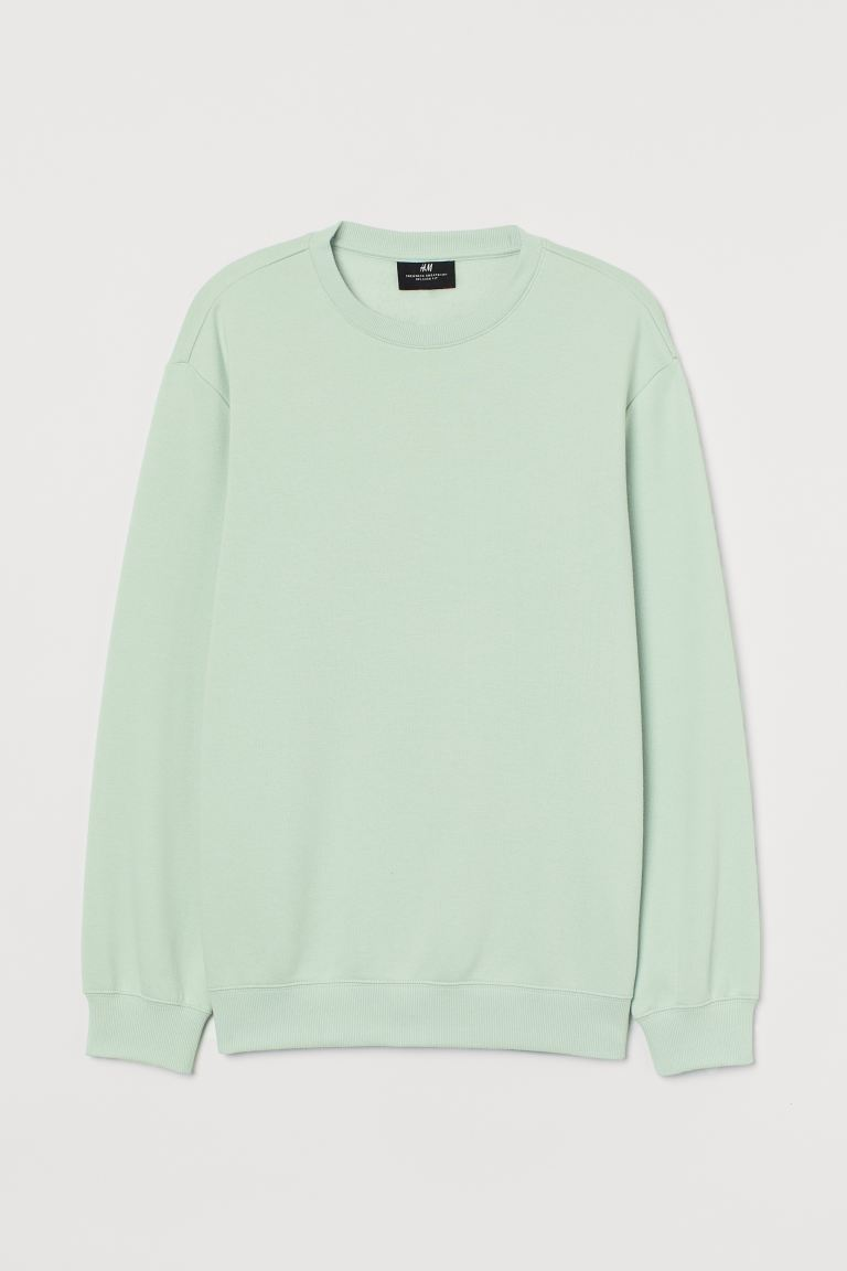 Sweatshirt Relaxed Fit - Mint green - Men | H&M GB