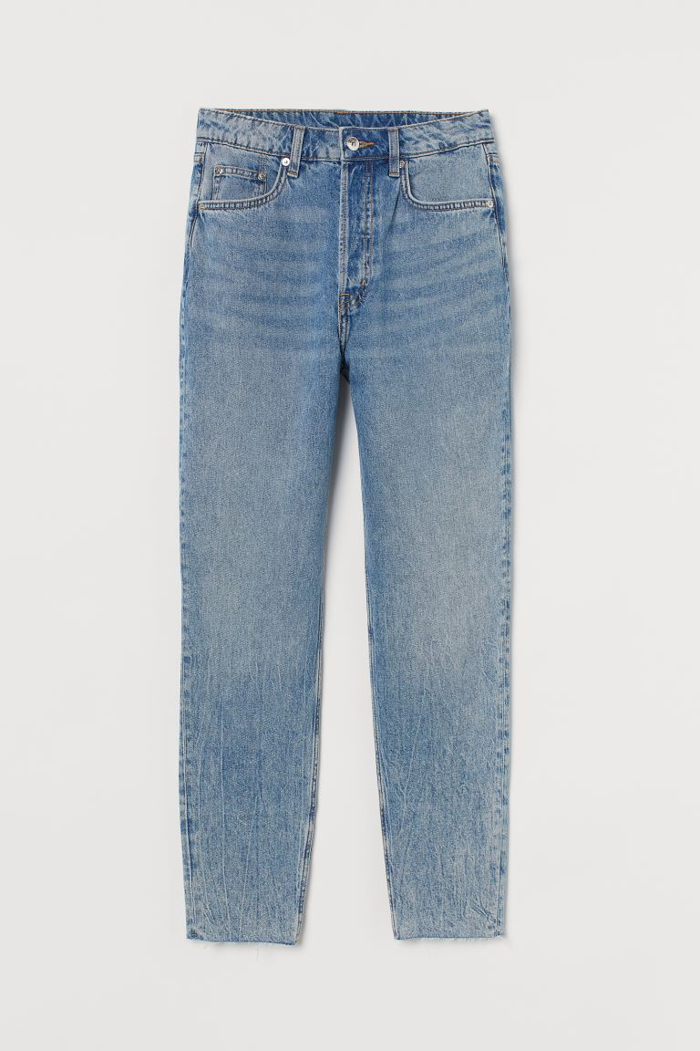 Slim Mom High Ankle Jeans - Ljus denimblå - DAM | H&M SE
