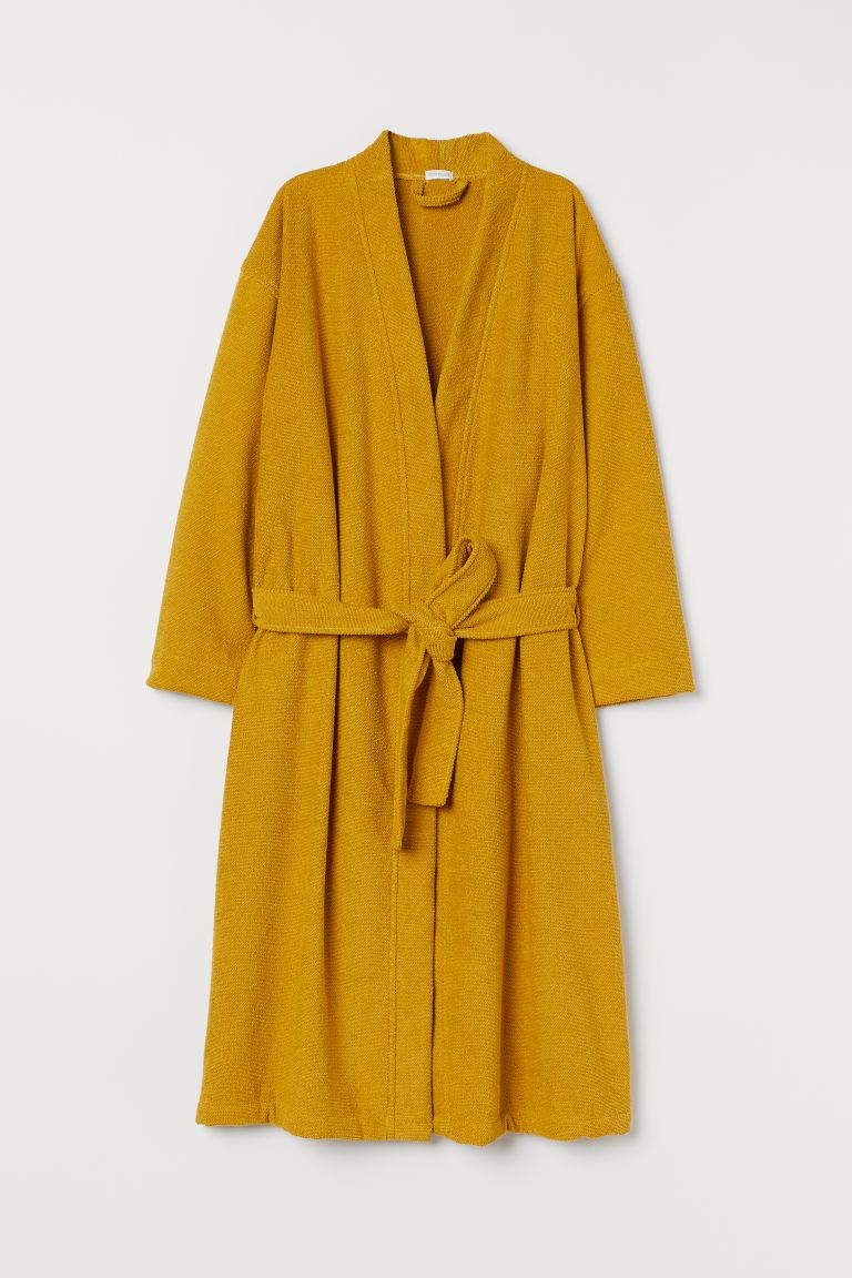 Peignoir en éponge - Jaune moutarde - HOME | H&M BE
