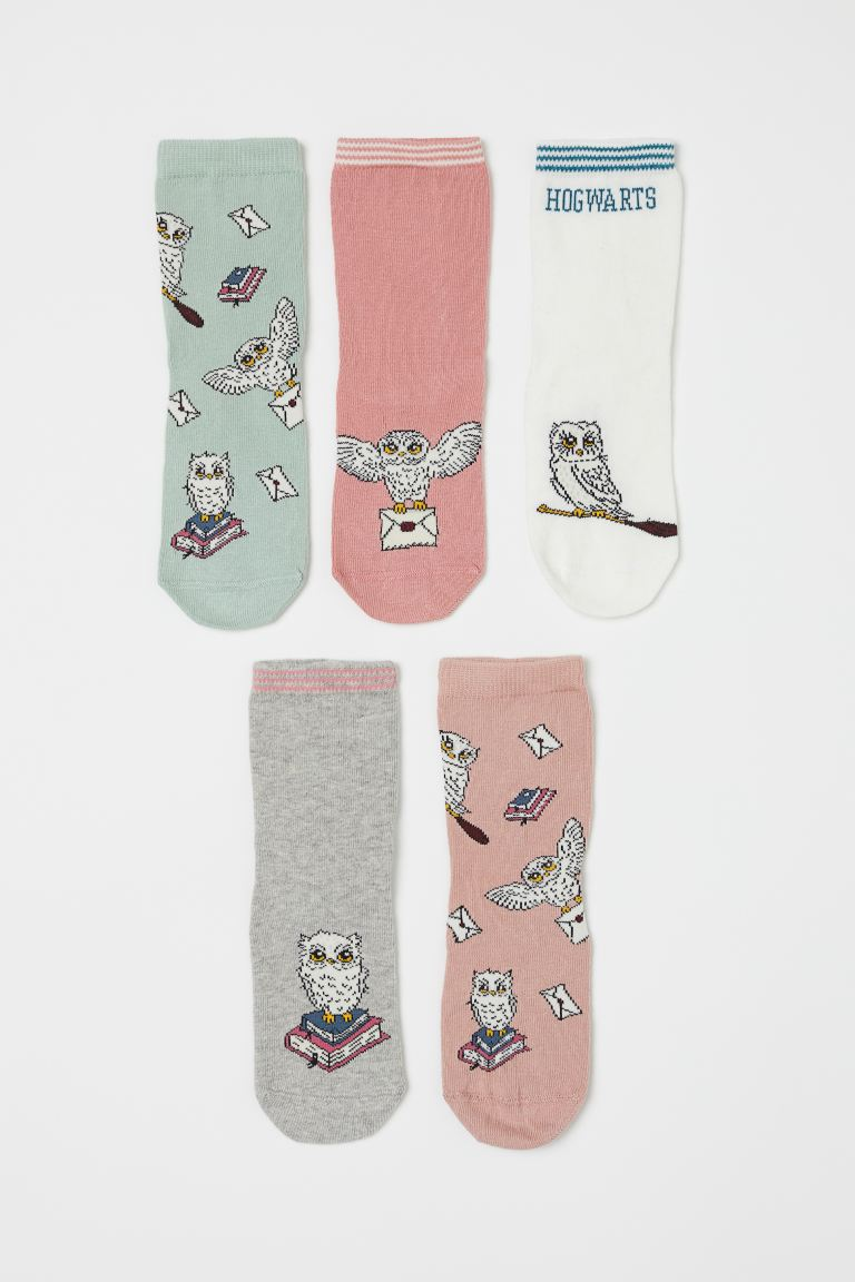 5-pack Socks - Dusty rose/Harry Potter - Kids | H&M US